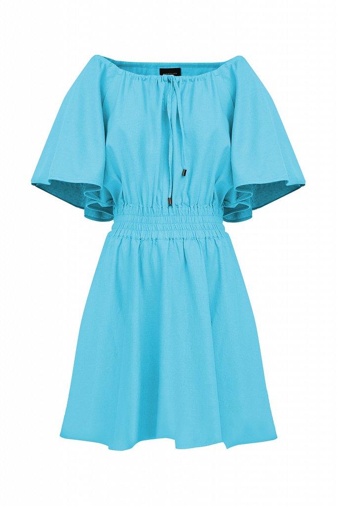 Платье-мини с объемными рукавами, Модель S21-12018D, Фото №7