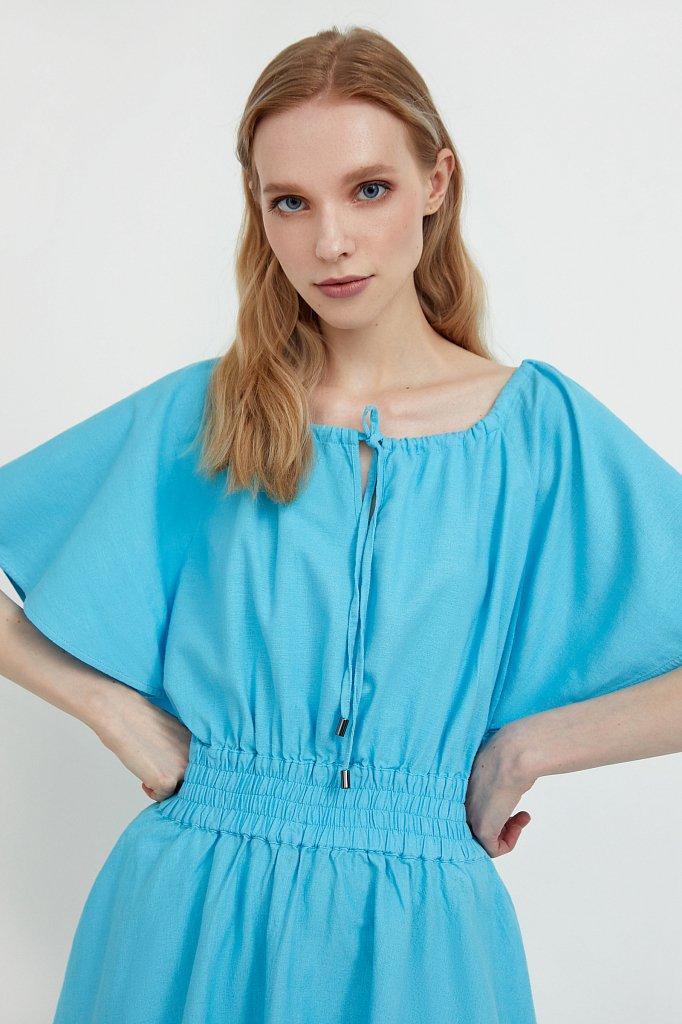Платье-мини с объемными рукавами, Модель S21-12018D, Фото №6