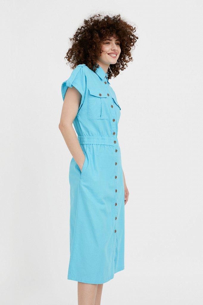 Платье-рубашка с короткими рукавами, Модель S21-12028, Фото №3