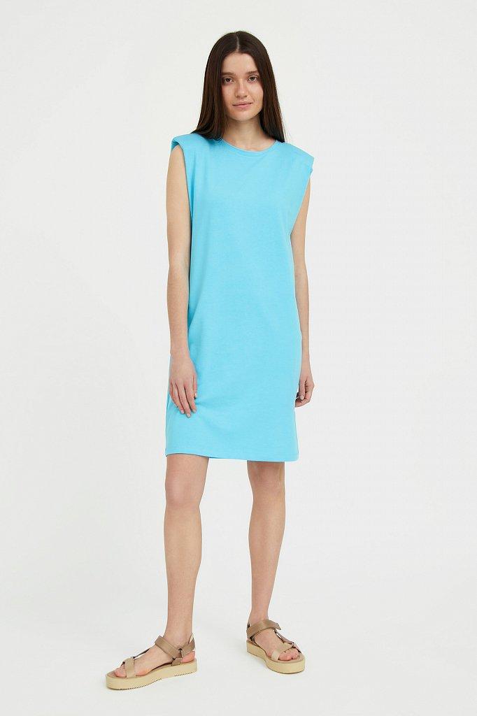 Хлопковое платье без рукавов, Модель S21-12091, Фото №1