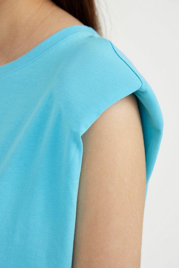 Хлопковое платье без рукавов, Модель S21-12091, Фото №5