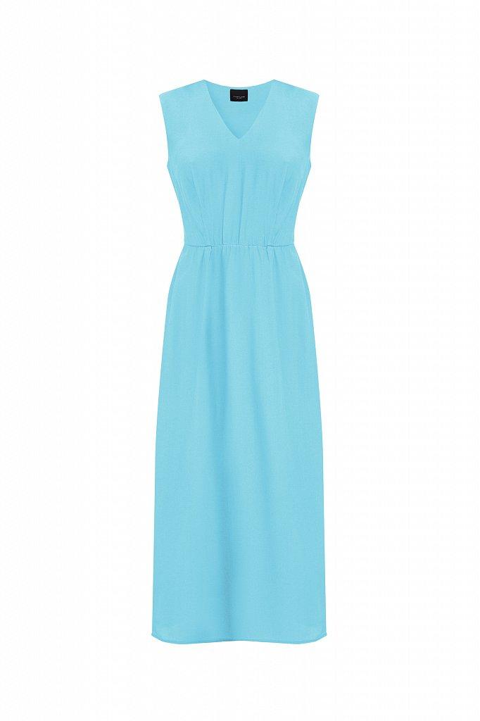 Платье-миди с V-образным вырезом, Модель S21-32009, Фото №7