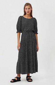 Платье в горох из вискозы S21-110103