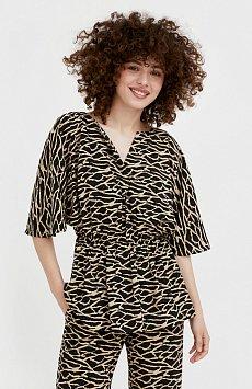 Блуза с принтом S21-14004