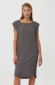 Платье из вискозы с геометричным принтом S21-14080