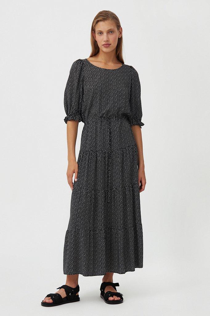 Платье в горох из вискозы, Модель S21-110103, Фото №1