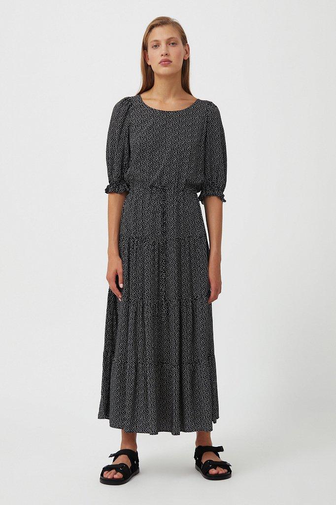 Платье в горох из вискозы, Модель S21-110103, Фото №2