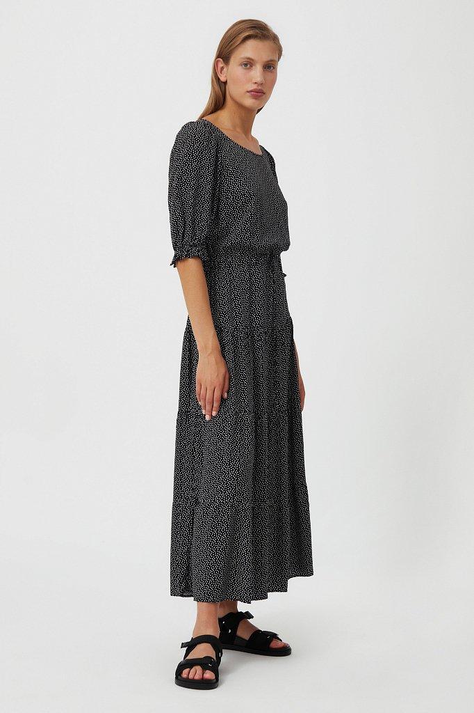 Платье в горох из вискозы, Модель S21-110103, Фото №3