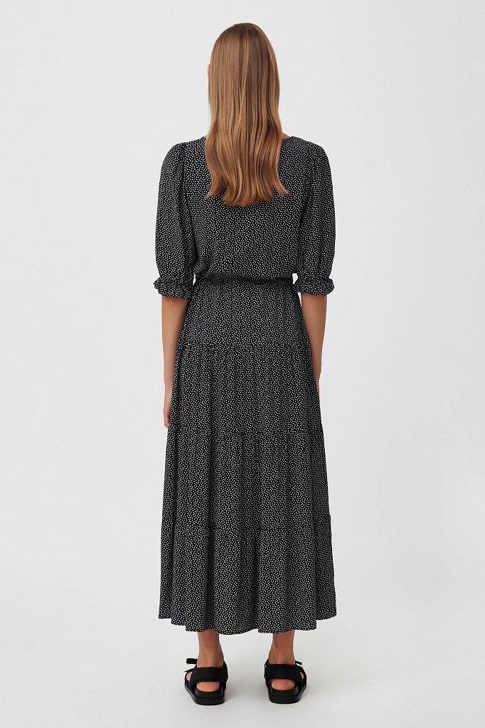 Платье в горох из вискозы, Модель S21-110103, Фото №4