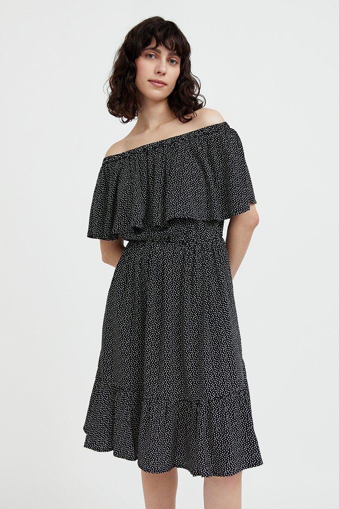 Приталенное платье с принтом, Модель S21-110106, Фото №1