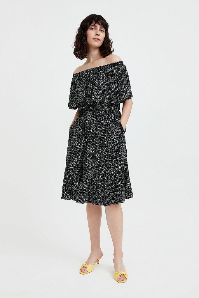 Приталенное платье с принтом, Модель S21-110106, Фото №2