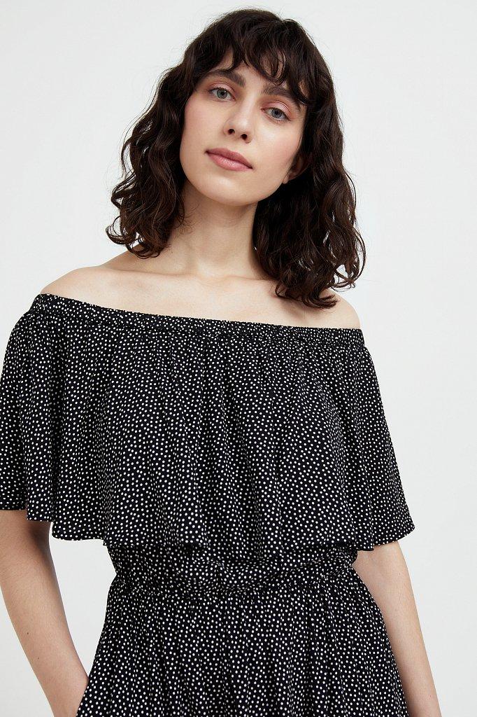 Приталенное платье с принтом, Модель S21-110106, Фото №6