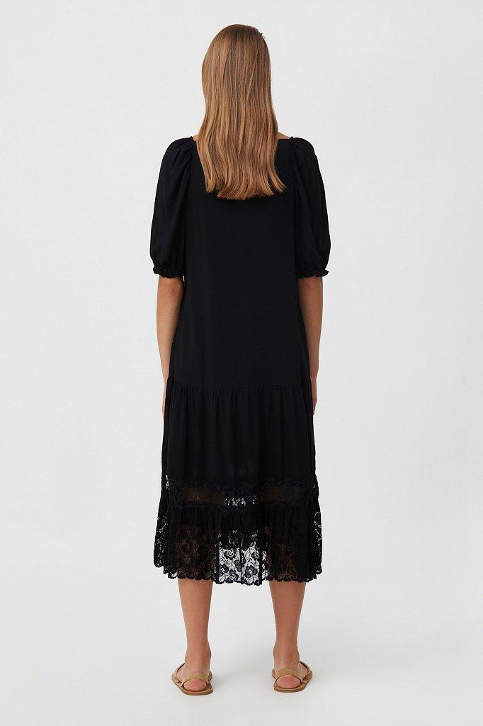 Платье свободного кроя с кружевом, Модель S21-110108, Фото №4