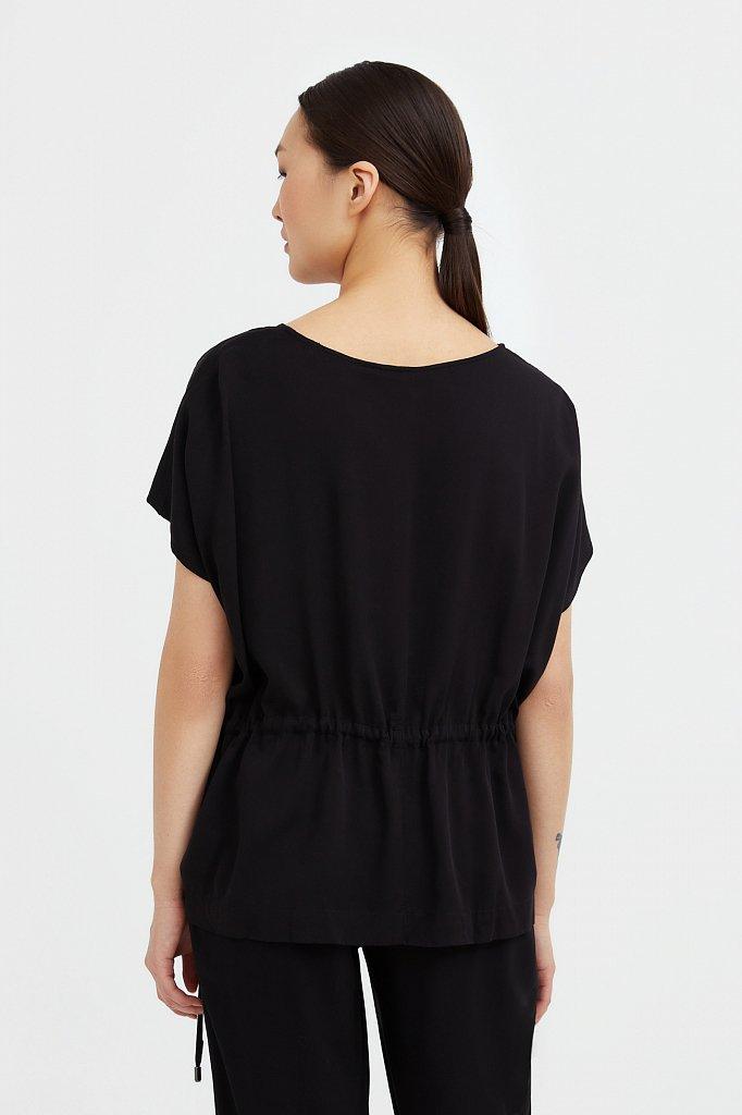 Однотонная блузка на кулиске, Модель S21-12024, Фото №4