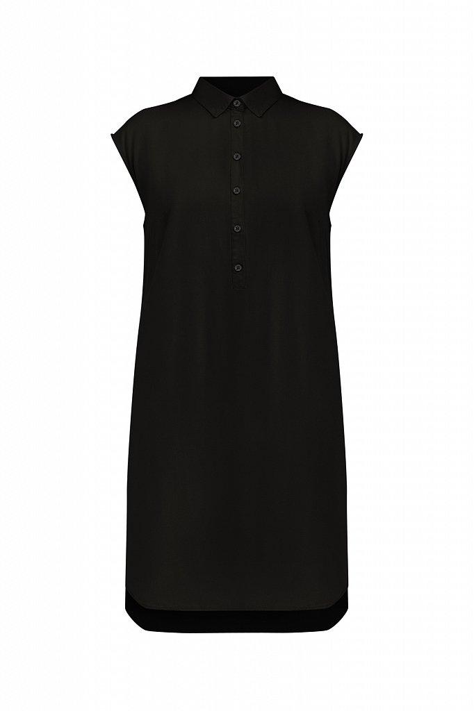 Платье прямого кроя с отложным воротником, Модель S21-12090, Фото №7