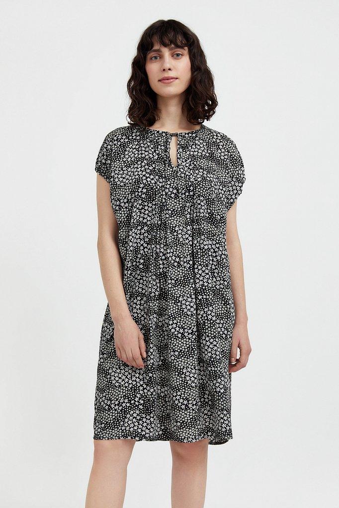 Свободное платье с цветочным принтом, Модель S21-12093, Фото №2