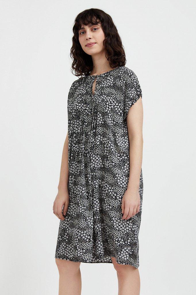 Свободное платье с цветочным принтом, Модель S21-12093, Фото №3