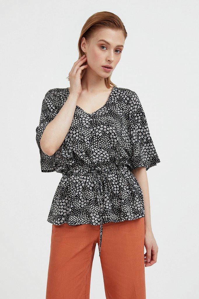 Блуза с мелким принтом, Модель S21-12097, Фото №1
