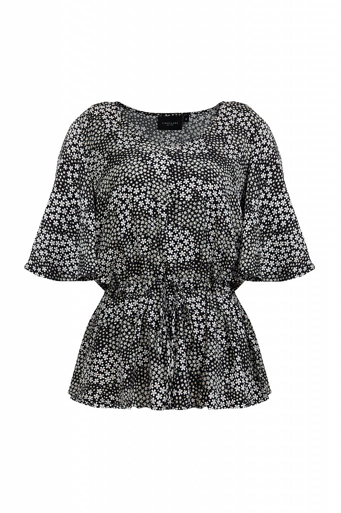 Блуза с мелким принтом, Модель S21-12097, Фото №7