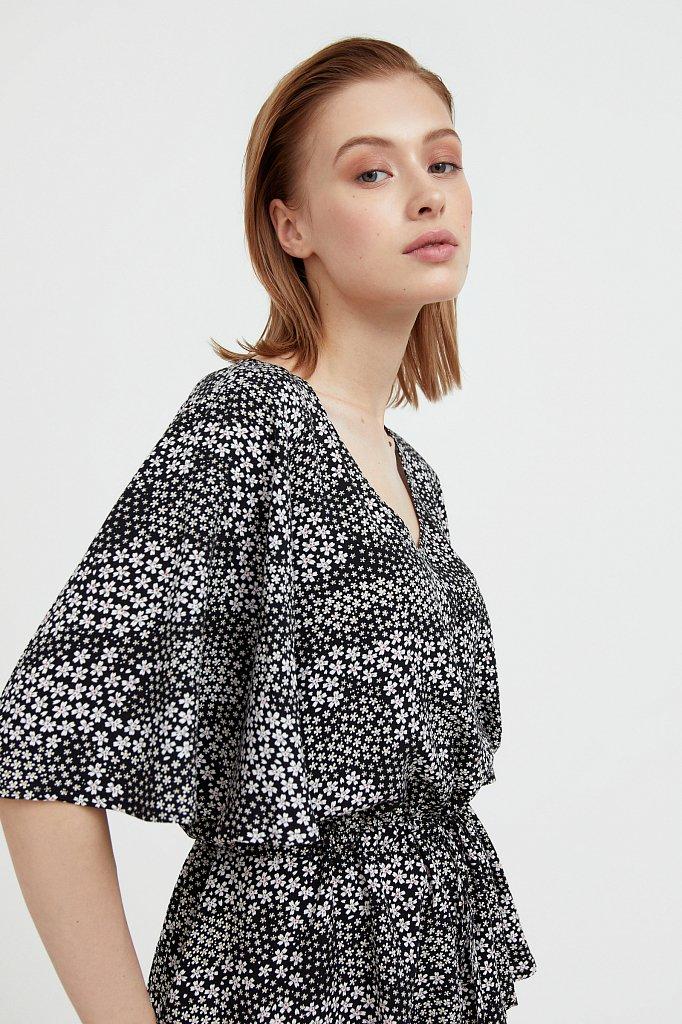 Блуза с мелким принтом, Модель S21-12097, Фото №6
