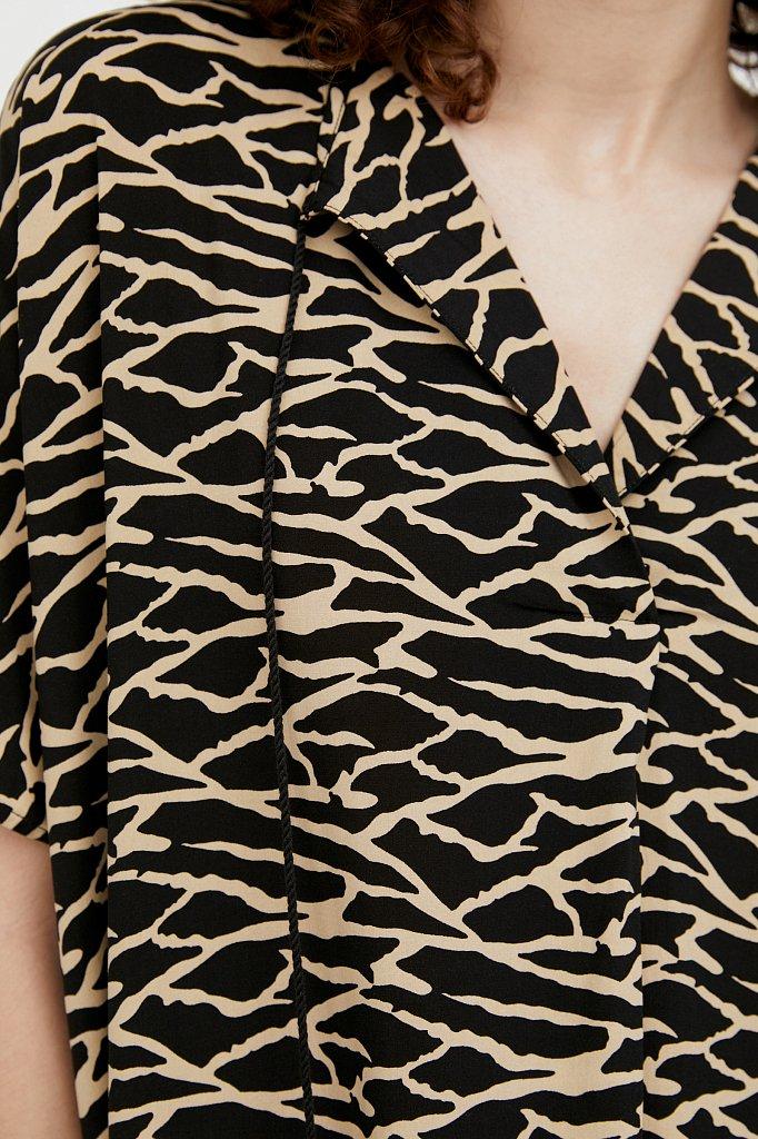 Свободное платье с принтом и завязками, Модель S21-14000, Фото №5