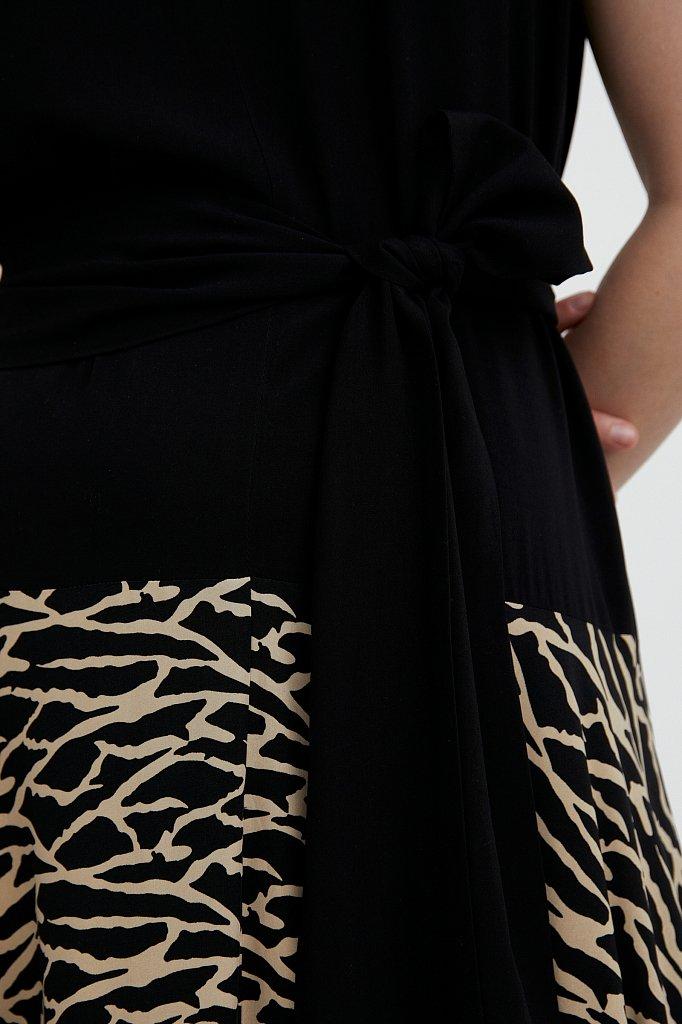 Комбинированное платье из вискозы, Модель S21-14003, Фото №5