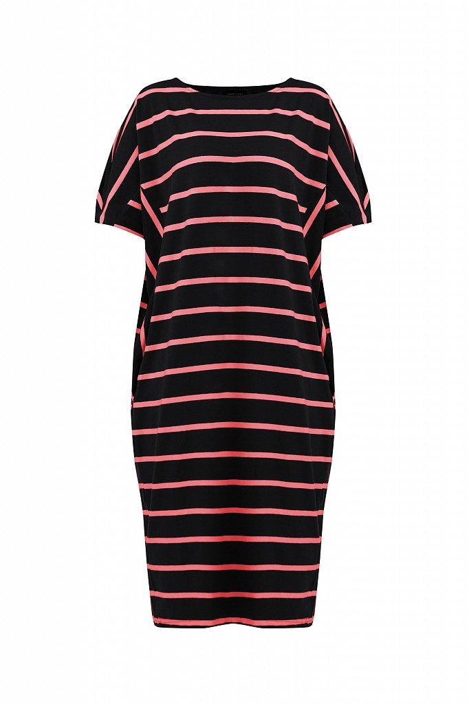 Полосатое платье из хлопка, Модель S21-14069, Фото №7