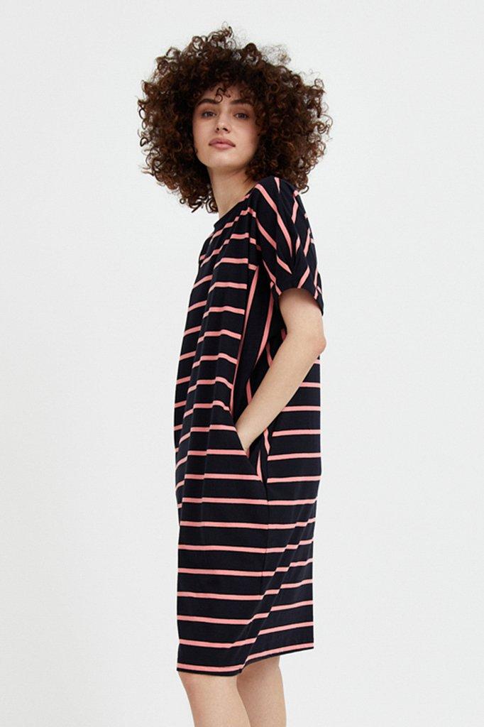 Полосатое платье из хлопка, Модель S21-14069, Фото №3