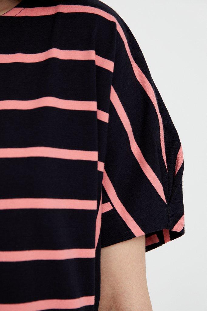 Полосатое платье из хлопка, Модель S21-14069, Фото №5