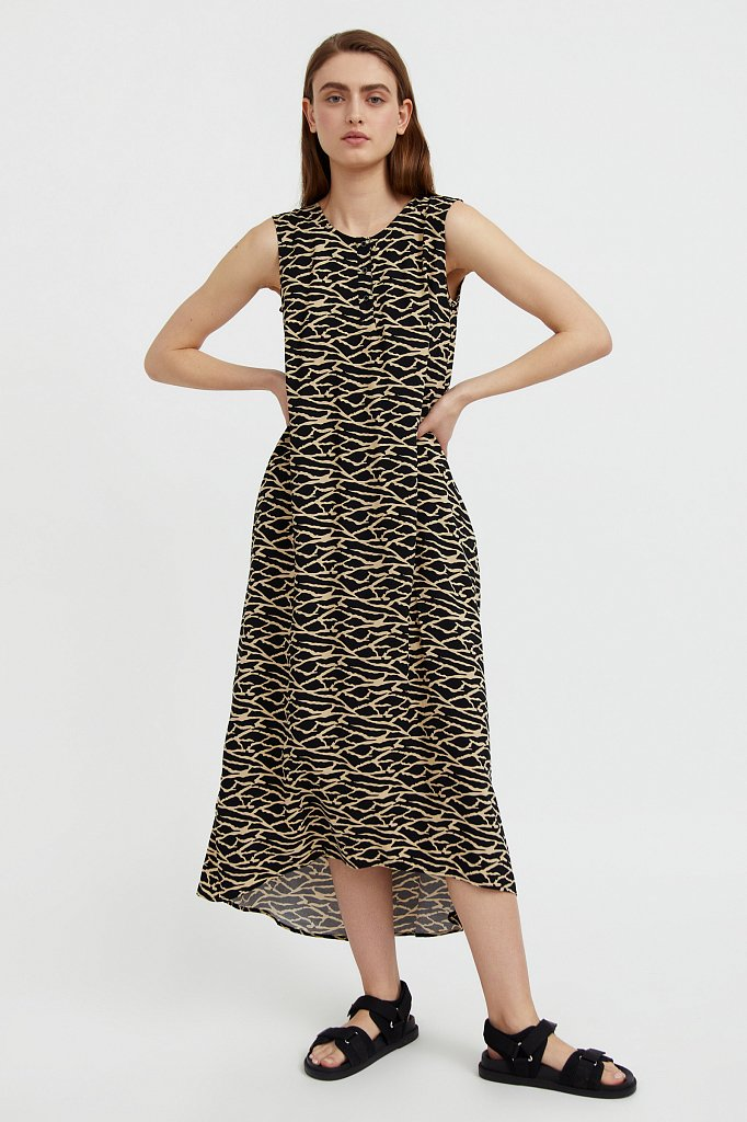 Асимметричное платье макси, Модель S21-14074, Фото №1