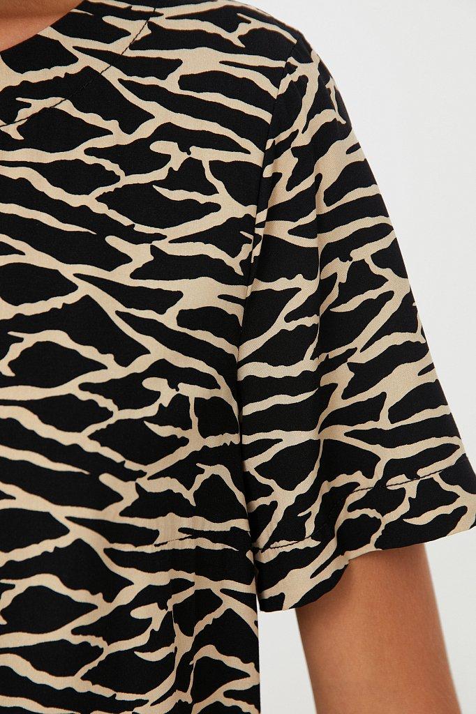 Свободная футболка с принтом, Модель S21-14075, Фото №5