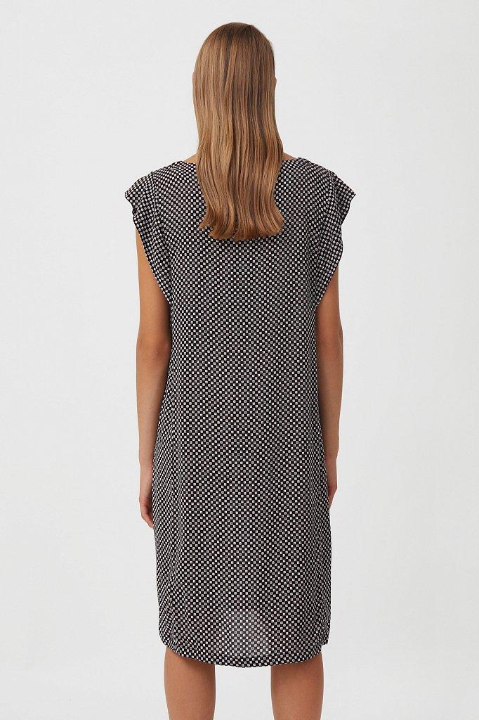 Платье из вискозы с геометричным принтом, Модель S21-14080, Фото №4