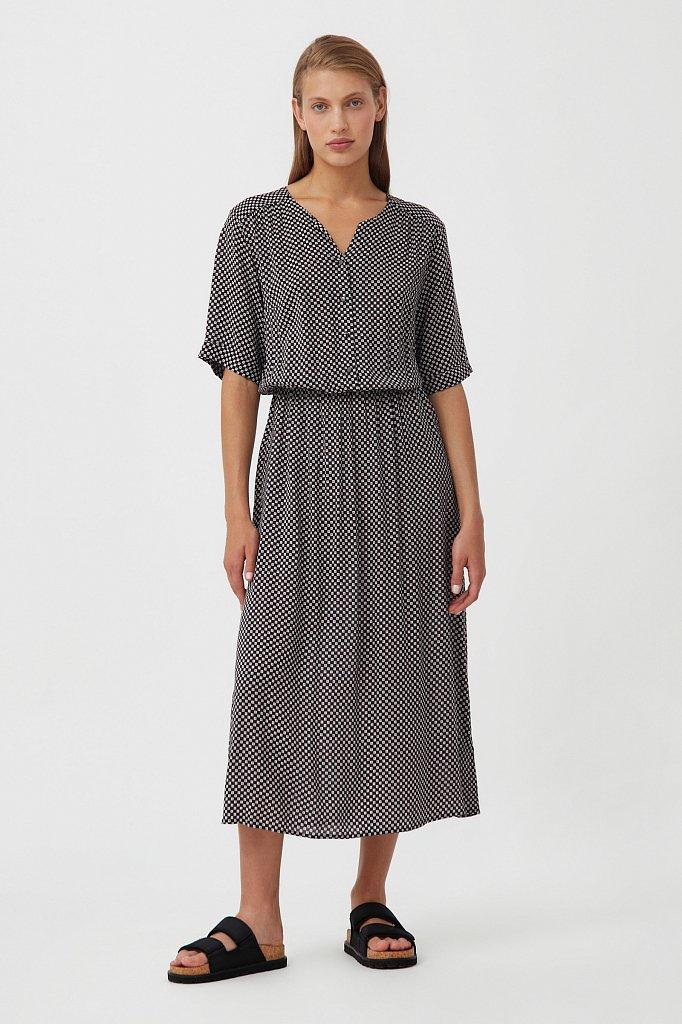 Платье-миди с принтом, Модель S21-14085, Фото №1