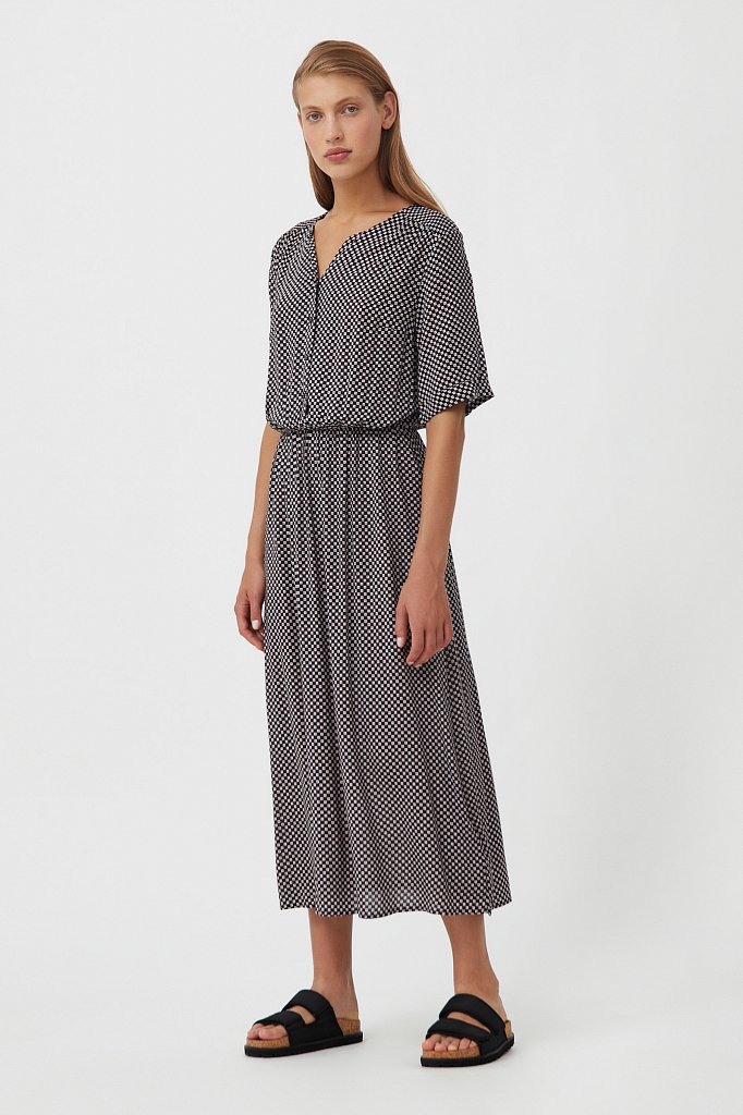 Платье-миди с принтом, Модель S21-14085, Фото №2