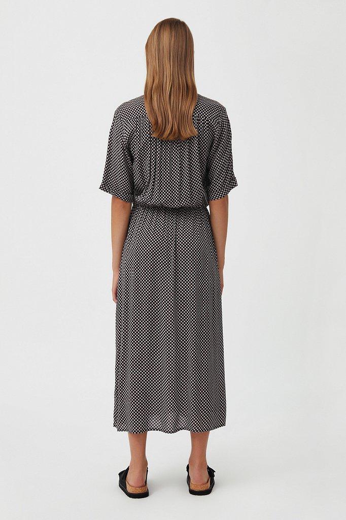 Платье-миди с принтом, Модель S21-14085, Фото №4