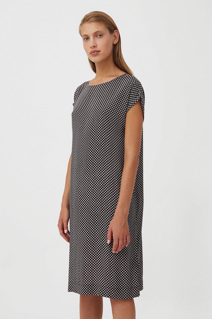 Прямое платье с геометричным принтом, Модель S21-14087, Фото №3