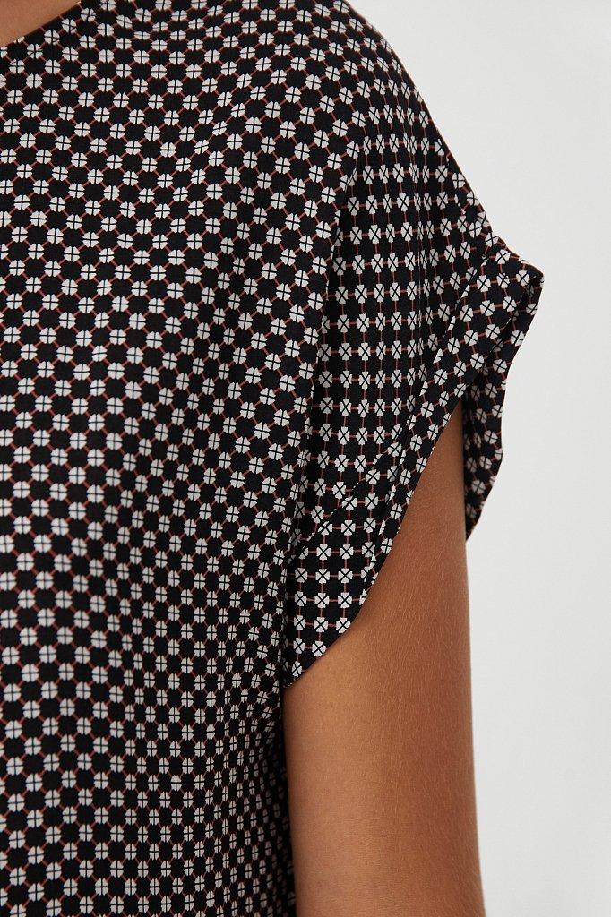 Прямое платье с геометричным принтом, Модель S21-14087, Фото №5