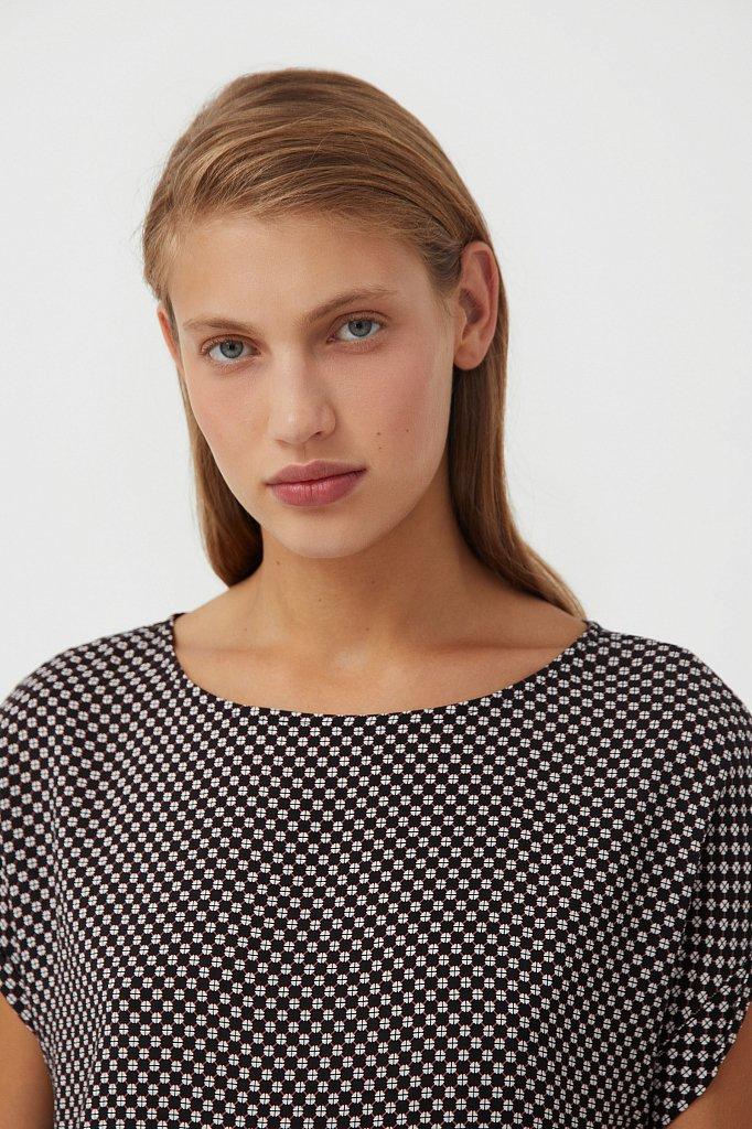 Прямое платье с геометричным принтом, Модель S21-14087, Фото №6