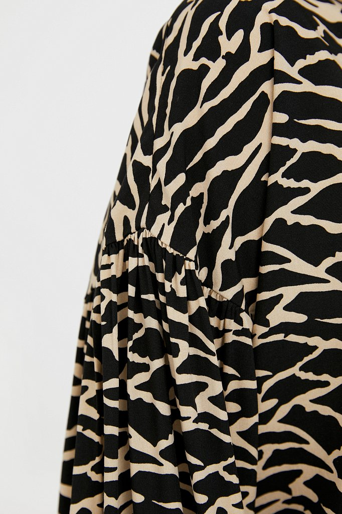 Свободная блуза с завязками-кисточками, Модель S21-14088, Фото №5