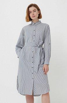 Платье-рубашка в полоску S21-11008