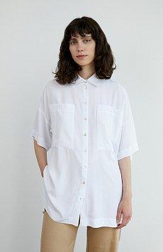 Однотонная рубашка оверсайз S21-11076