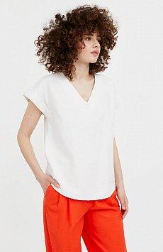 Однотонная льняная футболка S21-12017