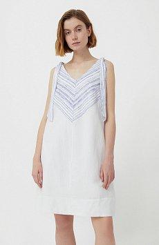 Хлопковое платье с принтом S21-14039