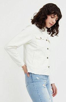 Джинсовая куртка с воротником-стойкой S21-15014