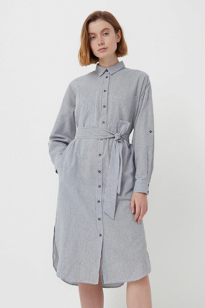 Платье-рубашка в полоску, Модель S21-11008, Фото №1