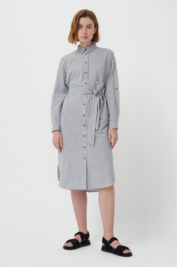 Платье-рубашка в полоску, Модель S21-11008, Фото №2