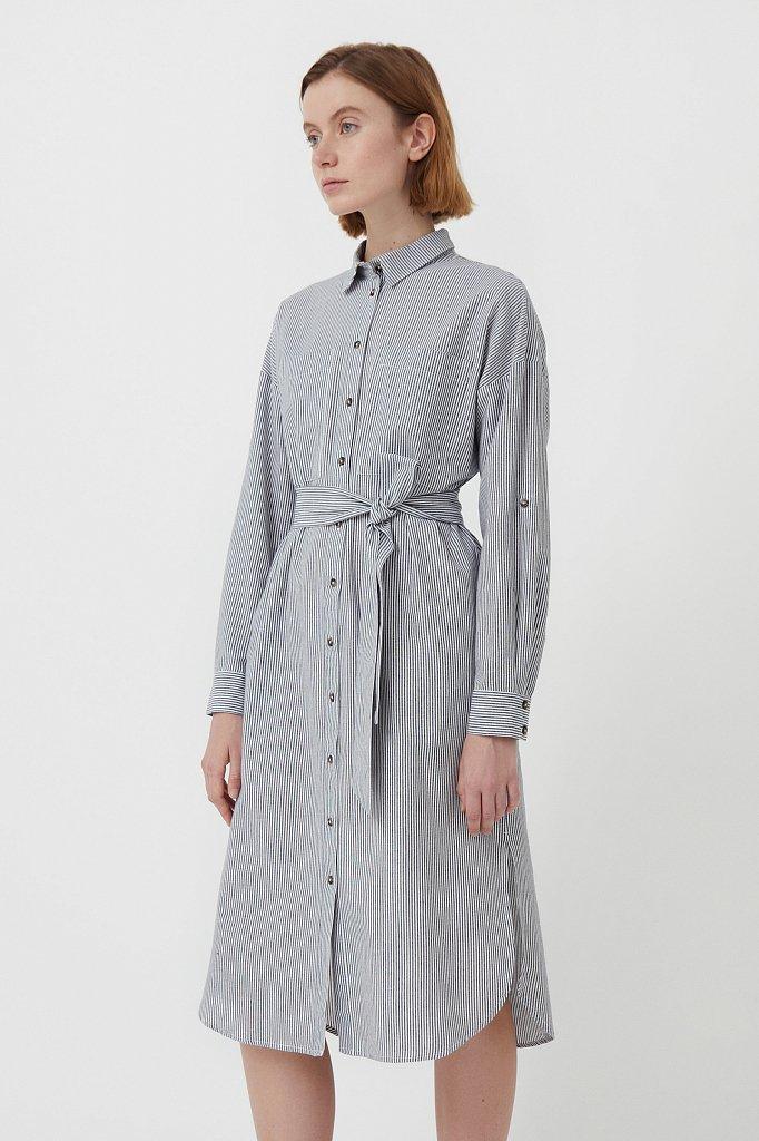 Платье-рубашка в полоску, Модель S21-11008, Фото №3