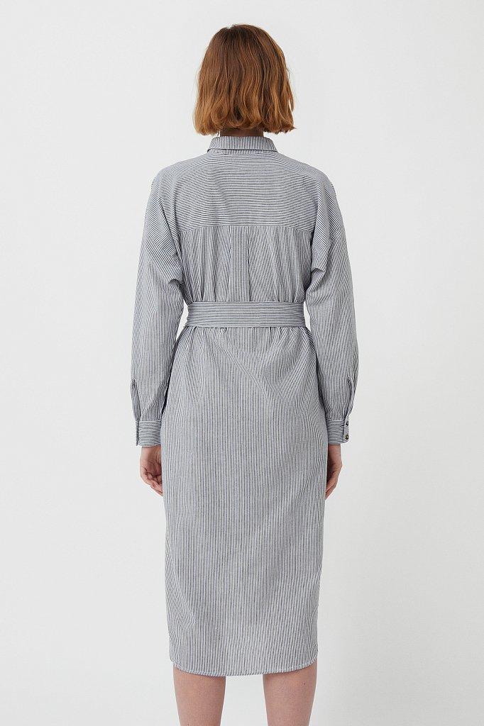 Платье-рубашка в полоску, Модель S21-11008, Фото №4