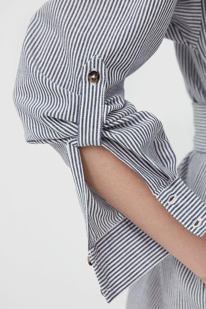 Платье-рубашка в полоску, Модель S21-11008, Фото №5