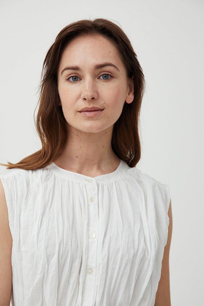 Удлиненная хлопковая блузка, Модель S21-110100, Фото №5